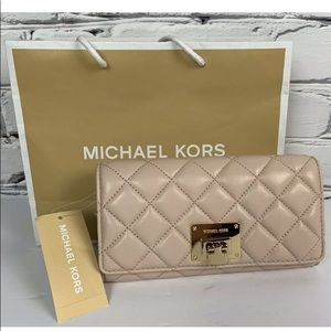 Michael Kors Quilted Leather Wallet Carryall